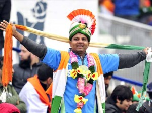 A contented India fan at the ICC Championships, Edgbaston last week.