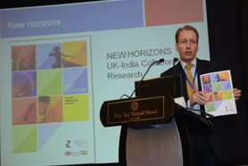 Prof Paul Boyle, CEO of ESRC, launching 'New Horizons'