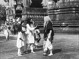 A scene from Raja Harishchandra, a 1913 silent film, widely acknowledged to be the first Indian feature length movie.