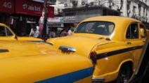Famous (Hindustan Ambassador taxis in its bright yellow